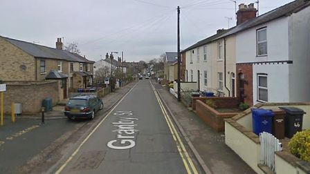 The crash happened in Granby Streeet, Newmarket Picture: GOOGLE MAPS