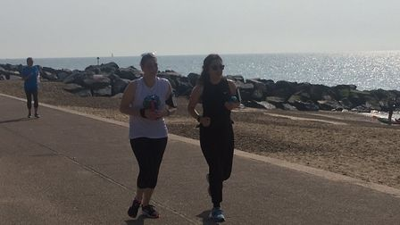 Runners in action during Saturday's Felixstowe parkrun, which attracted a field of more than 200
