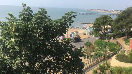 A view from Spa Gardens looking down to the seafront and the venue for the Felixstowe parkrun. Pictu