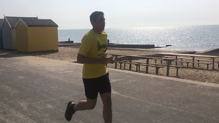 One of the 218 runners who take part in Saturday's Felixstowe parkrun, held in sultry conditions. Pi