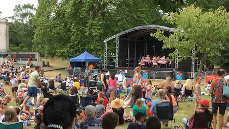 The 15th Indian Summer Mela at Christchurch Park on Sunday. Picture: TOM POTTER