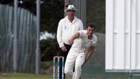 Tom Rash, who took three late wickets for Suffolk, against Bedfordshire, having earlier hit a half-c