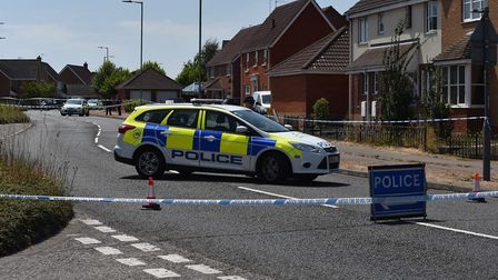 The scene of a fatal stabbing in Lowestoft Picture: SONYA DUNCAN