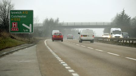 The A120 junction with the A12 at Colchester. Picture: ARCHANT LIBRARY