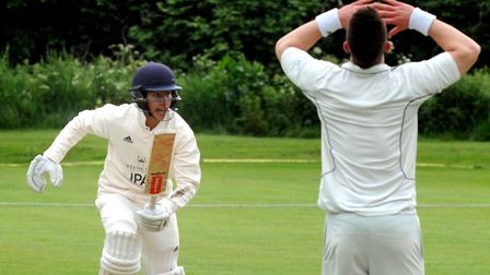 Teenager Alex Oxley, who made 99 not out for Copdock in their impressive win at Frinton. Picture: AN