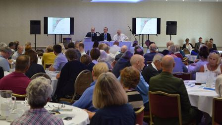 People taking part in the forum session at the event Picture: SUFFOLK COASTAL DISTRICT COUNCIL