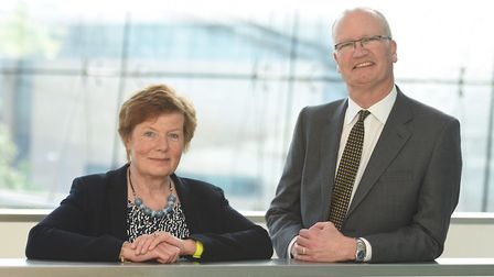 Mary Evans and Matthew Hicks are getting to grips with life at the top of Suffolk County Council. Pi