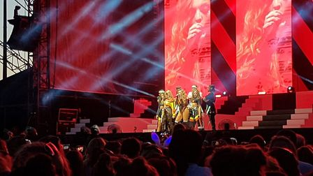 Little Mix took to the stage in Colchester for their Summer Hits tour Picture: MARIE ATTRILL