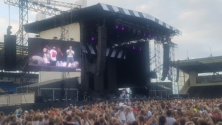 Rak-Su were impressive and warmed up the crowd ready for headline act, Little Mix Picture: LAUREN HO