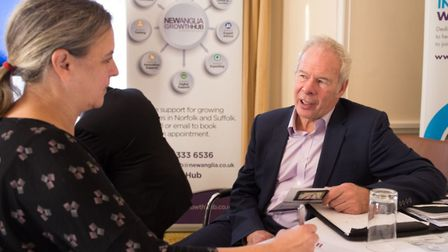 New Anglia Growth Hub with business, offering advice