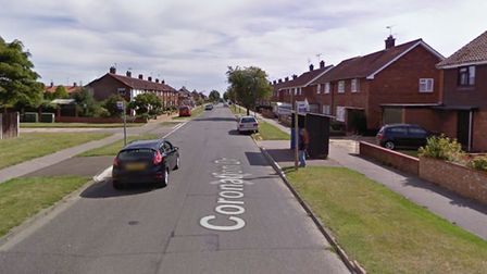 Police are putting a cordon in place at the scene on Coronation Drive in Felixstowe Picture: GOOGLE
