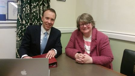The new Health Secretary with Suffolk Coastal MP Therese Coffey Picture: ARCHANT