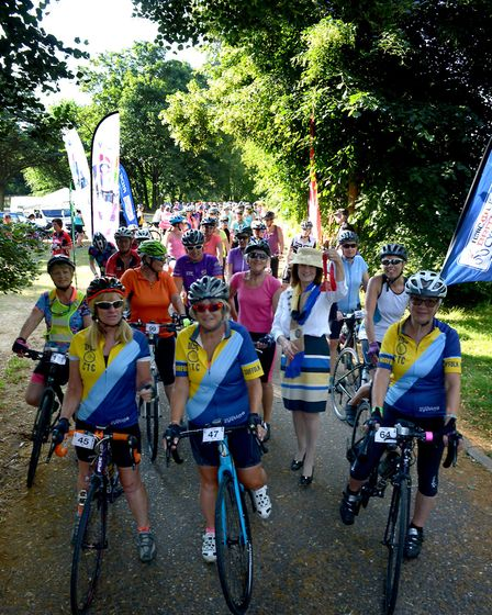 Early starters: The annual Women on Wheels charity cycle event in aid of St Nicholas Hospice Care se