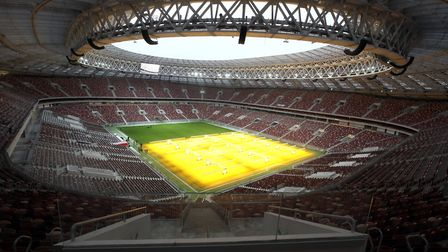 The Luzhniki Stadium, Moscow is where England will face Croatia in a World Cup semi-final tonight. P