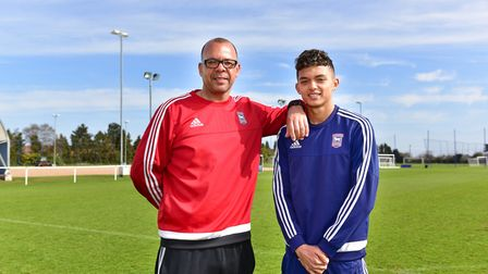 Jason and Andre Dozzell - both made goalscoring debuts for Ipswich Town at the age of 16. Photo: Sar