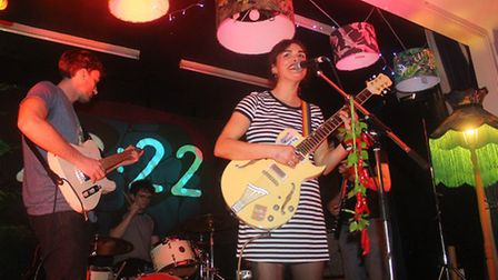 Bessie Turner performing at her 22:22 album launch at the Manor Ballroom in Ipswich Picture: ROSS HA