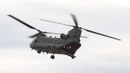 An RAF Chinook. Picture: SIMON PARKER