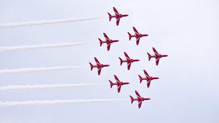 The Red Arrows will be among the flypast. Picture: NICK BUTCHER