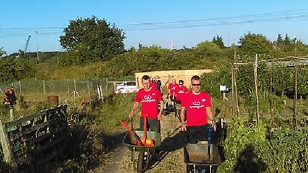 Volunteers helping in the gardens Picture: PIER MARKETING/ EAST OF ENGLAND