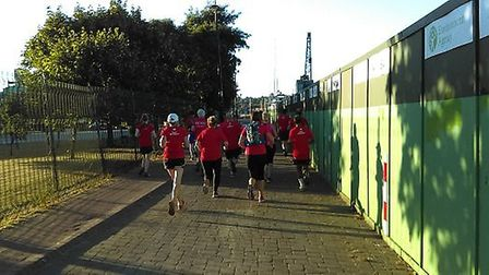 Runners setting off to help the ActivLives Community GardenPicture: PIER MARKETING/ EAST OF ENGLAND