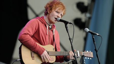 Ed Sheeran has performed on the secret set before. Picture: ASHLEY PICKERING