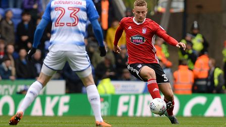 Luke Woolfenden, pictured on the ball at Reading in April. Picture Pagepix