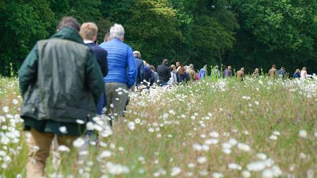 A farm walk takes guests on a tour of Eastwood Farm, Earth Lane, Lound, Lowestoft, farmed by 2017 Si