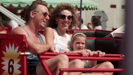 Families enjoyed the rides on offer at the vintage fair Picture: RICHARD SNASDELL