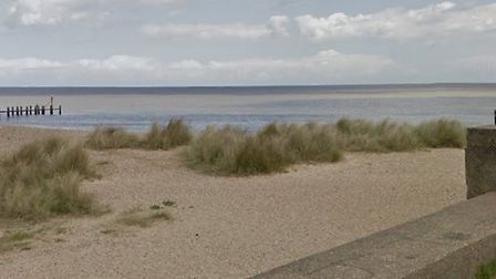 A woman was reported as being face down in the sea off North Beach in Lowestoft last night but was s