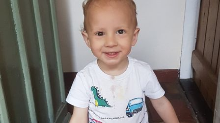 Johnny Moyes, who developed retinoblastoma Picture: SUPPLIED BY FAMILY