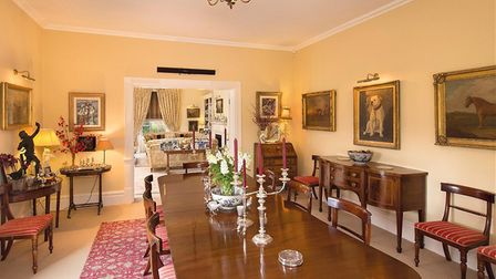 Inside Sutton Hall, on the Sutton Hall estate, for sale with Knight Frank. Pic; www.knightfrank.co.u