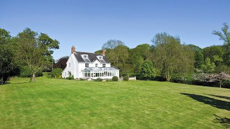 One of the 11 properties also for sale on the Sutton Hall estate, for sale with Knight Frank. Pic; w