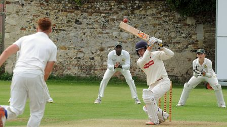 Ben Parker, who scored a superb 112 not out in Sudbury's win at Copdock & Old Ipswichian. Picture: A