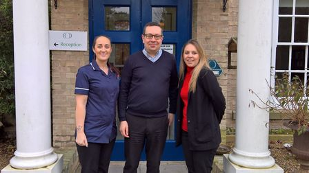 The manager at Fornham House, Stuart Coleman, with Clare Pethick, deputy manager, (left) and Samanth