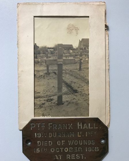 The original grave market for Pte Hall. Picture: JAN BLOOMFIELD