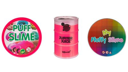 Three slime toys which had higher than recommended levels of a chemical Picture: WHICH?