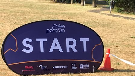 A familiar sight for all parkrunners - where all 5k runs begin, in this case at Swaffham. Picture: C