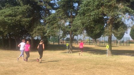 Runners brave the hot conditions during the Swaffham parkrun, held from the Nicholas Hamond Academy.