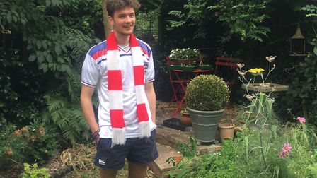 John Rogers, from Bury St Edmunds, will have to watch the game from home after his passport was stol