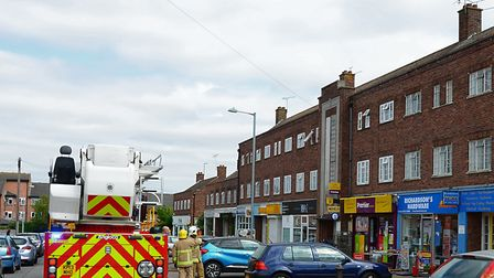 Emergency crews at the scene Picture: GARETH PERKINS/SUFFOLK FIRE AND RESCUE SERVICE