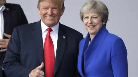 Donald Trump will join Theresa May for a black-tie dinner tonight at Blenheim Palace Picture: AP PHO