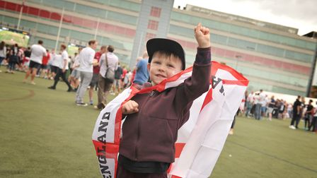 Oscar Pryke getting excited for the match Picture: SARAH LUCY BROWN