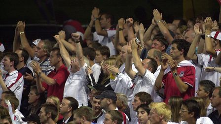 Are you onw of the cheering fans? Will it be a similar picture in Russia tonight? Picture: OWEN HINE