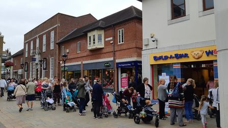 Parents have been queuing for three hours at Build-A-Bear Colchester as the store hosts a 'pay your