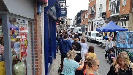 There are reports of two-hour queues as Build-A-Bear hosts a special pay-your-age day. Build-A-Bear