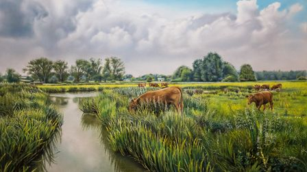 Buttercup Meadows pastel painting Picture: MARK TURNBULL