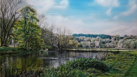 Friars Meadow pastel painting Picture: MARK TURNBULL