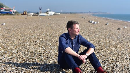 Launch of The Hightide Theatre Festival in Aldeburgh. Artistic director and founder of the company a