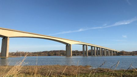 The incident happened on the eastbound carriageway of the Orwell Bridge Picture: ARCHANT