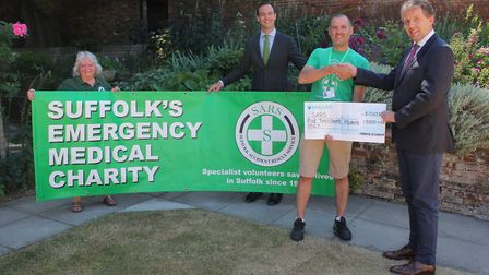 Suffolk Accident Rescue Service (SARS) were presented with a cheque following money raised at the Bu